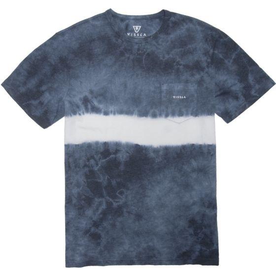 Vissla Established Tie Dye Stripe Mens Tee - Blue