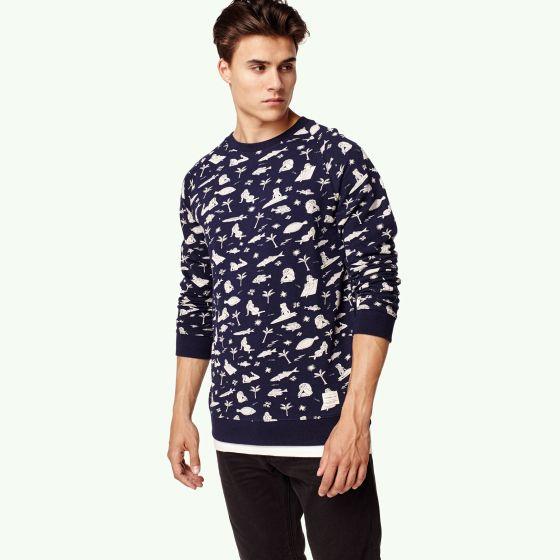 O'Neill Fish & Chicks Mens Sweater