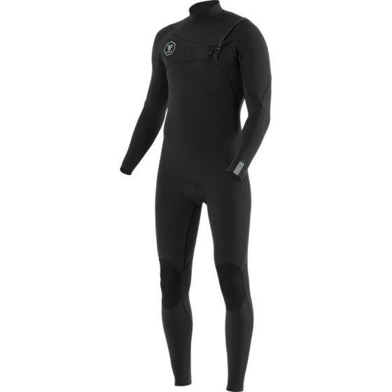 Vissla 7 Seas 5/4mm Chest Zip Wetsuit - Black Fade