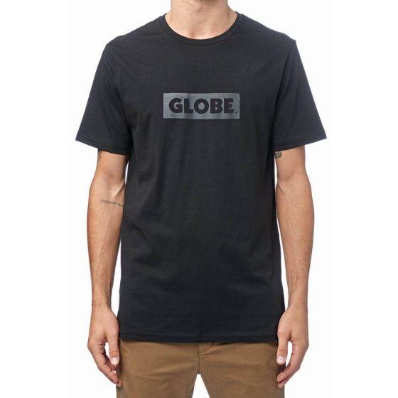 Globe Box T Shirt in Black