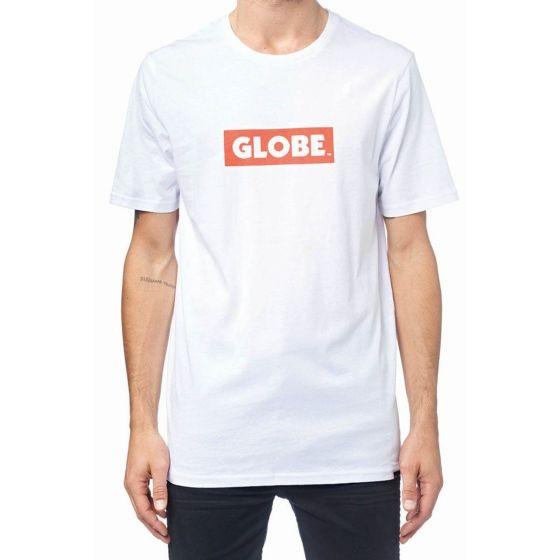 Globe Box T Shirt - White
