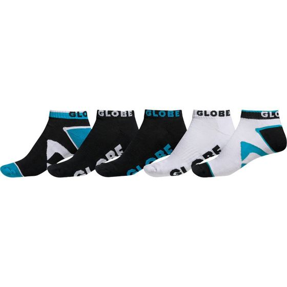 Globe Destroyer Ankle Sock 5 Pack - Black