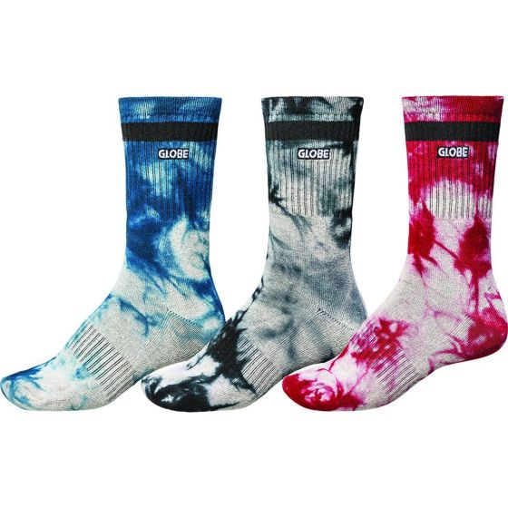 Globe All Tied Up Sock 5 Pack - Assorted