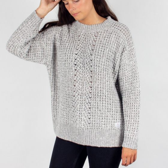 Passenger Greenland Womens Knitted Sweater - Light Grey - Extra Large