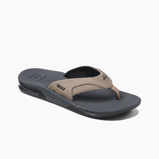 Reef Fanning Sandals in Tan, Black and Tan