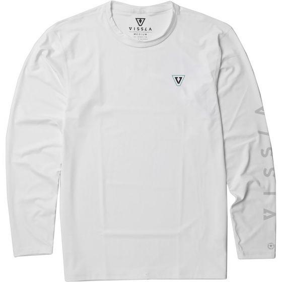 Vissla Alltime Long Sleeve Surf Tee - White front