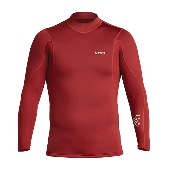 Xcel Axis Long Sleeve 2/1mm Mens Wetsuit Jacket - Chilli