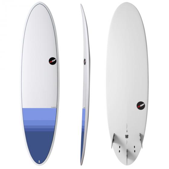"NSP Elements 7'2"" Fun Surfboard - Tail Dip Blue"