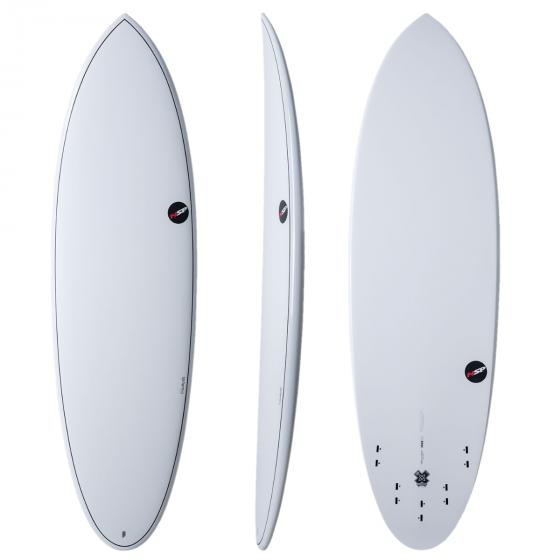 """NSP Elements 5'6"""" Hybrid Shortboard - White"""