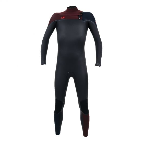 O'Neill Psycho One 4/3mm Youth Chest Zip Wetsuit 2020 in Raven/Widow