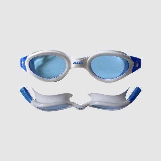 Zone 3 -Apollo Goggles - Tinted Lens - White/Blue