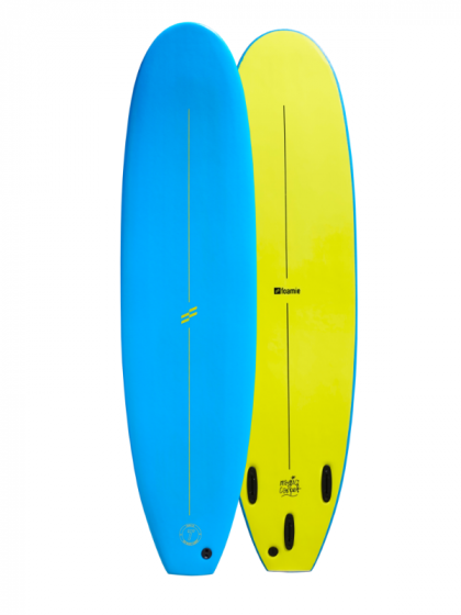 Foamie Magic Carpet 7ft Softboard - Blue/Yellow