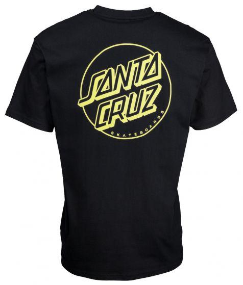 Santa Cruz Opus Dot Stripe T-Shirt in Black and Yellow