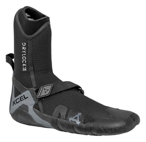 Xcel Drylock 5mm Round Toe Wetsuit Boot 2021 - Black - Full View