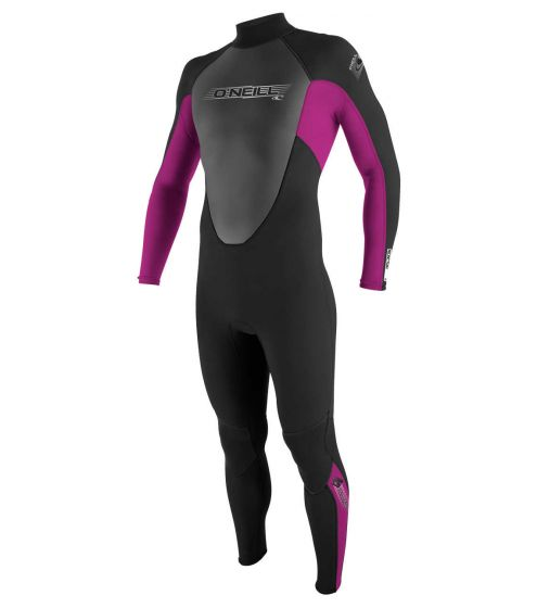 O'Neill Girls Reactor 3/2 Summer Wetsuit 2017 - Navy / Pink