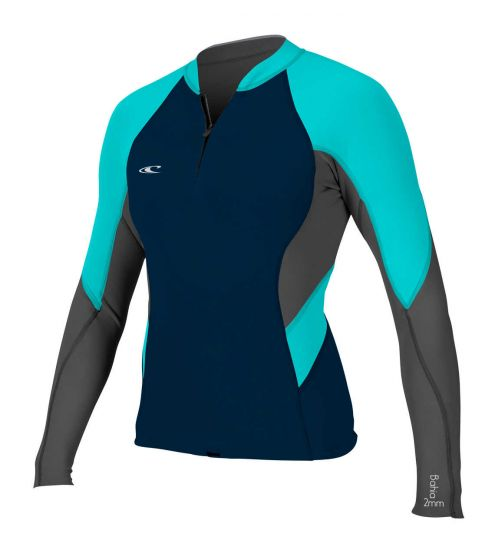 O'Neill Womens Bahia Ladies Front Zip Wetsuit Jacket 2017