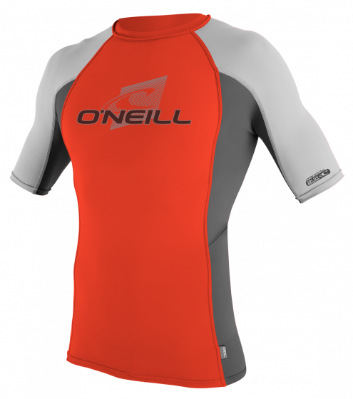 O´Neill Skins Mens Rash Vest 2016 - Neon Red