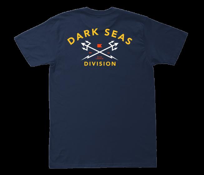 Dark Seas Headmaster T Shirt in Navy/Gold