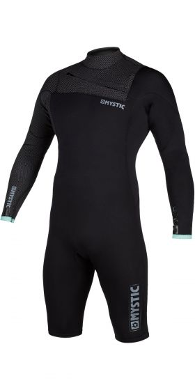Mystic Marshall 3/2mm Long Arm Chest Zip Shorty Wetsuit 2021 - Black