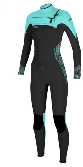 O'Neill Superfreak Fuze 5/4 Ladies Winter Wetsuit 2017 - Seaglass