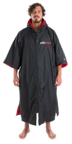 Dryrobe Advance Short Sleeve - Large - Black / Red