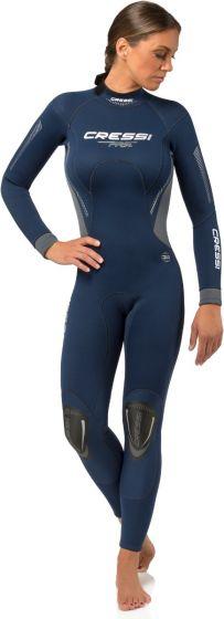 Cressi Fast Lady Monopiece 3mm Dive Wetsuit - Blue