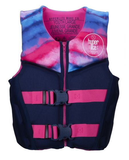 Hyperlite Girls Youth Indy CGA Neo Impact Vest  2021 - Large - Front