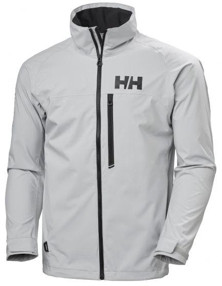 Helly Hansen Mens HP Racing Sailing Jacket 2021 - Grey Fog - Front