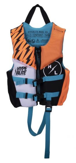 Hyperlite Boys Child Indy CGA NEO Impact Vest 2021 - Multi-colour - Front