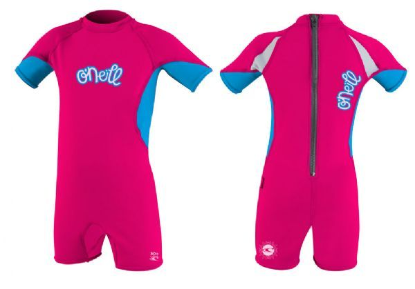 O´Neill Ozone Girls Short Sleeve Toddlers Sun Suit 2016 - Berry