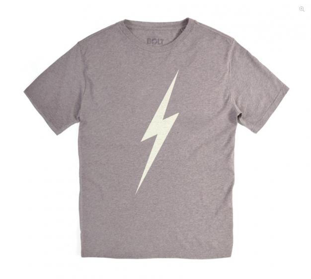 Lightning Bolt Mens Forever Tee - Grey