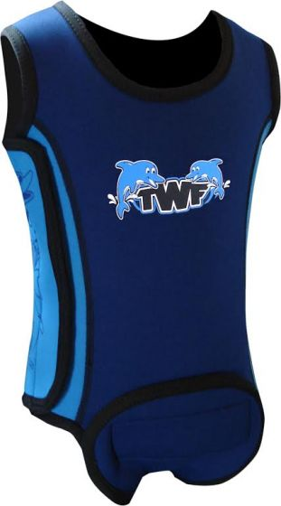 TWF Baby Wrap Wetsuit  -  Dolphin Blue 2018