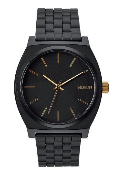Nixon Mens Timer Teller Watch - Matte Black/Gold1