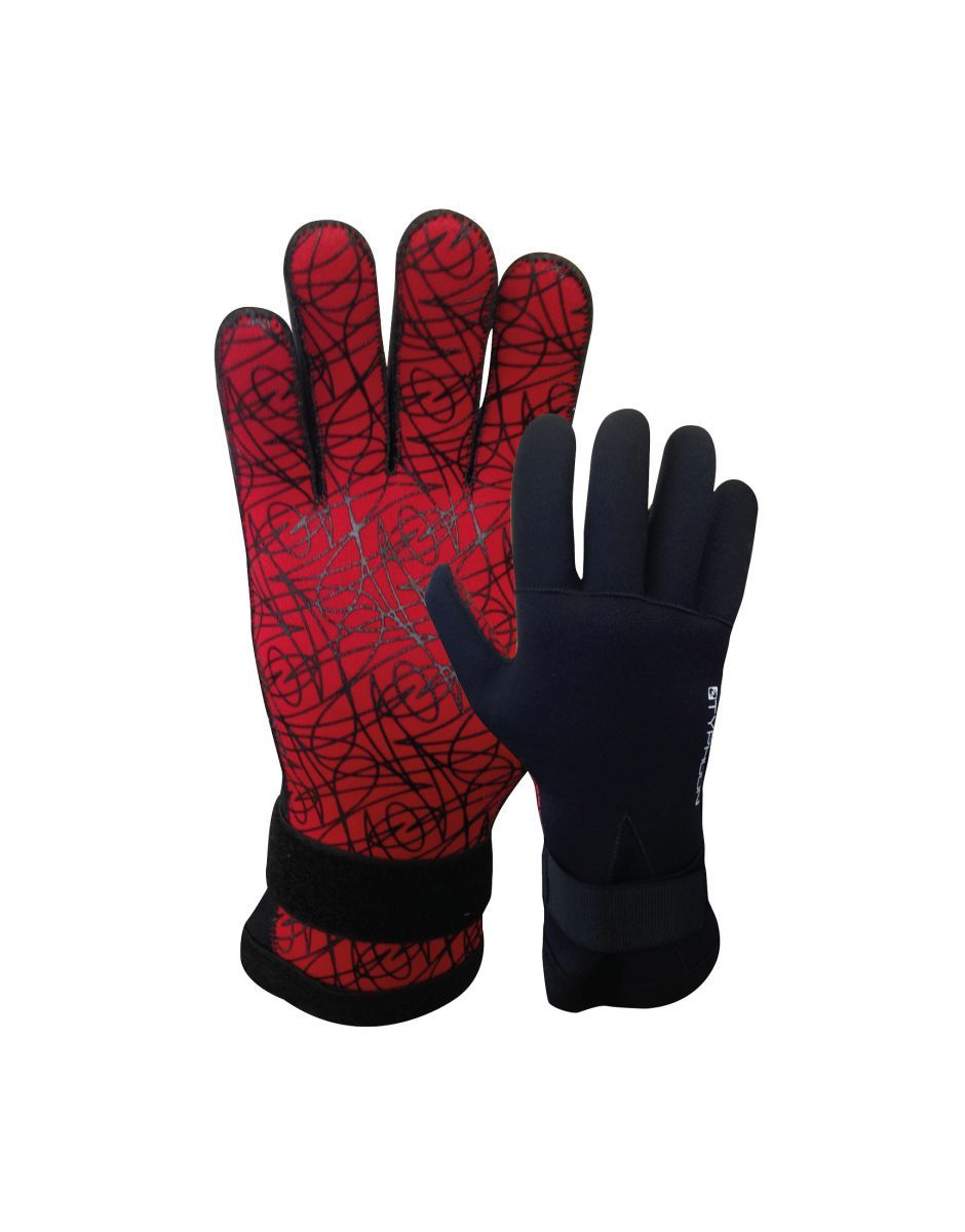 Perfect Winter Autumn Cold Water Diving Gloves Adults Unisex Black Typhoon 5mm Warm Divers Glove Titanium Neoprene Wetsuit