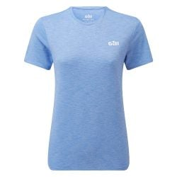 Gill Holcombe Womens Crew Short Sleeve Top 2021 - Sky Blue- Front