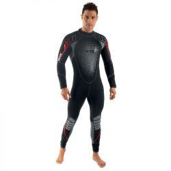 SEAC Komoda Flex 7mm Mens Wetsuit 2021 - Black/Red - Front