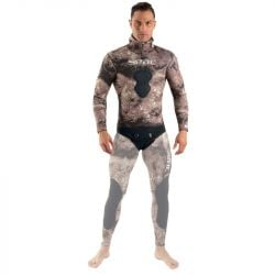 SEAC Gannet 5mm Mens Wetsuit Pants 2021 - Camo Brown - Pants Full View