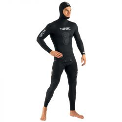 SEAC Shark 3mm Mens Two-Piece Wetsuit 2021 - Black - Front