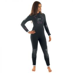 SEAC Space 5mm Womens Wetsuit 2021 - Black - Front