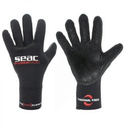 SEAC Dry Seal 5mm Scuba Wetsuit Gloves 2021 - Black - Front