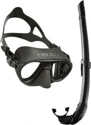 cressi combo snorkel and goggle/mask