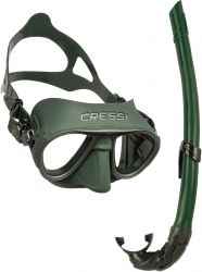 cressi mask and snorkel combo green