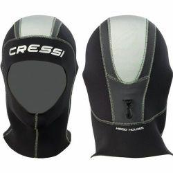 Cressi Plus 5mm Mens Hood 2021 - Black - Full View