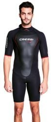 Cressi Altum 3mm Mens Shorty Wetsuit 2021 - Black/Red