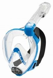 Cressi Baron Junior Full Face Mask 2021 - Clear/Blue - Full View