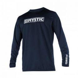Mystic Star L/S Quickdry Mens Rash Vest - Navy - Front