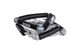 """Ronix 25' Bungee Surf Rope - 10"""" Handle - Silver/White"""
