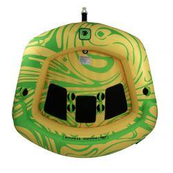 Radar Teacup 3 Person Towable Tube - Yellow/Green