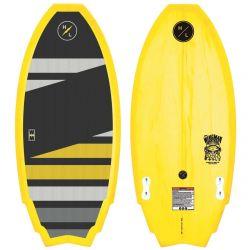 Hyperlite Wingman 3'9 Kids Wakesurf Board 2021 - Yellow - Top & Bottom