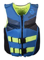 Hyperlite  Junior Boys Neo Indy Impact Vest 2021 - Blue - Front